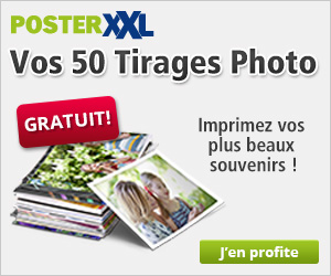Développement photo gratuit : 50 tirages avec PosterXXL !