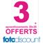 FOTODISCOUNT : 3 agrandissements photos gratuits pour 50 tirages photos commandés !