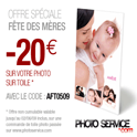 PHOTO SERVICE : Toile photo avec 20 € de réduction