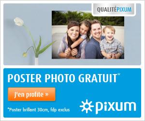 PIXUM : 1 poster gratuit