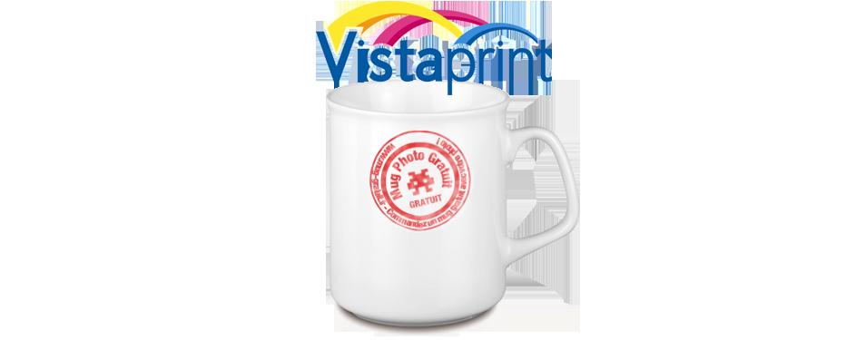 Votre mug gratuit avec Vistaprint